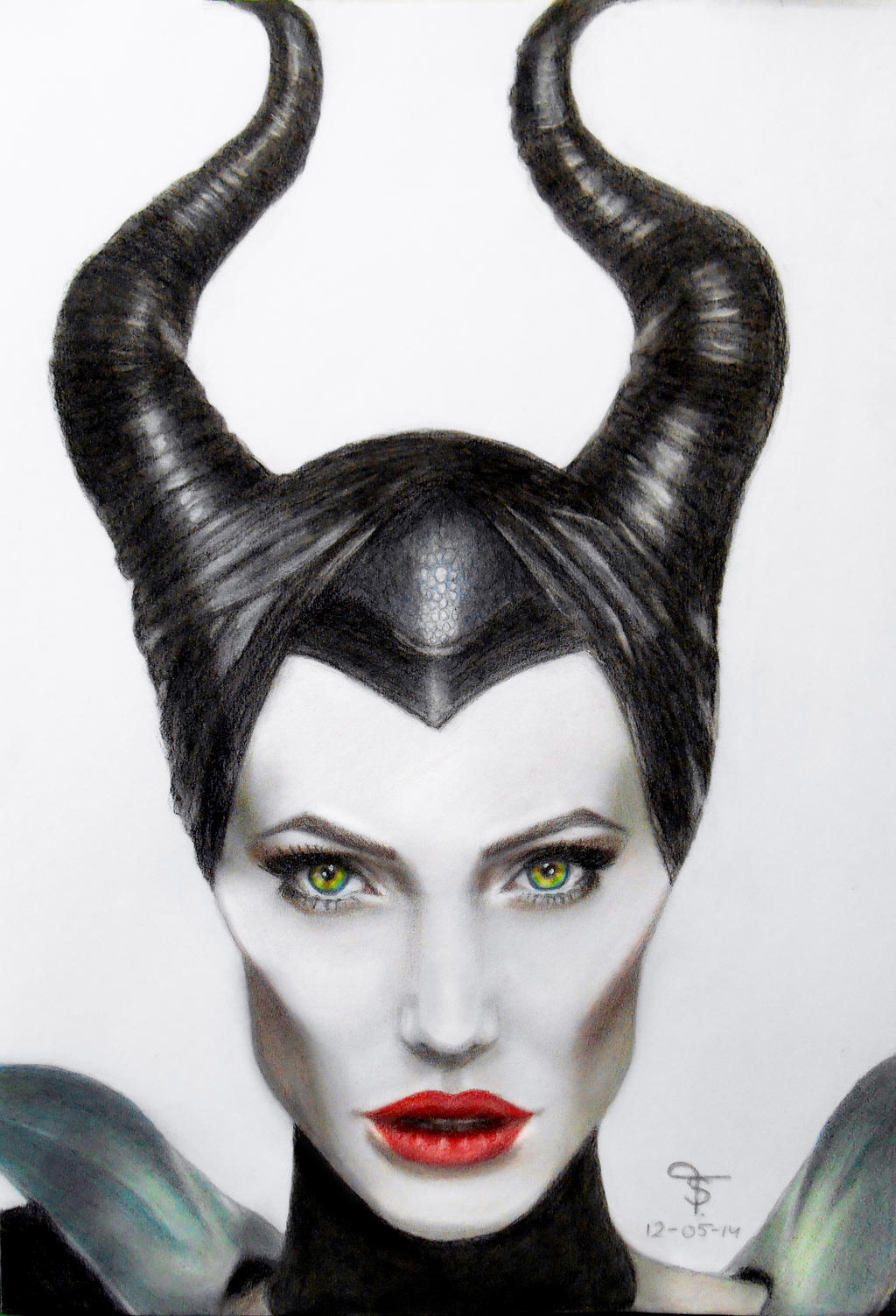 Angelina Jolie as Maleficent by tanjadrawing