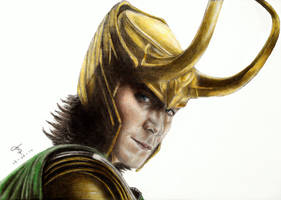 Tom Hiddleston - Loki by tanjadrawing