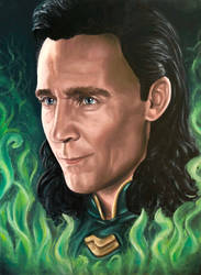 Loki by tanjadrawing