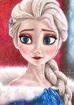 Elsa - Frozen by Tanjadrawings