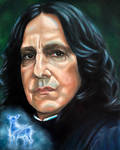 Severus Snape - oil painting  by tanjadrawing
