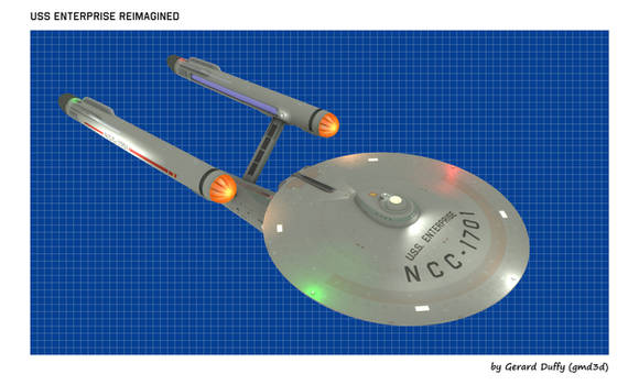USS ENTERPRISE Reimagined (4) by gmd3d