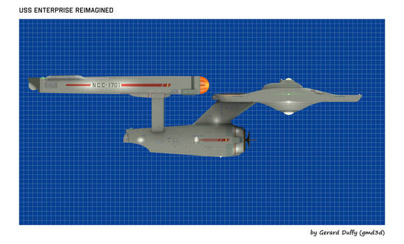 USS ENTERPRISE Reimagined (7) by gmd3d