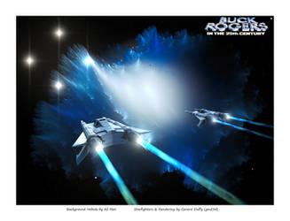 Buck Rogers 40th anniversary by gmd3d