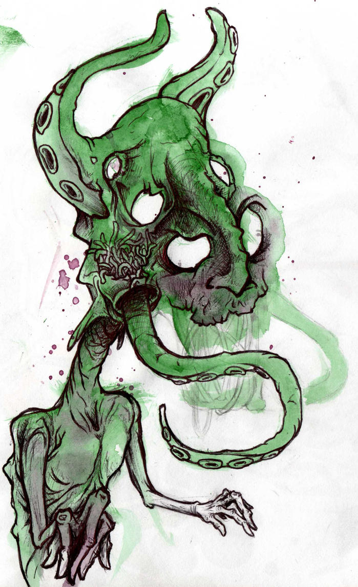 monster sketch by GLoeNn