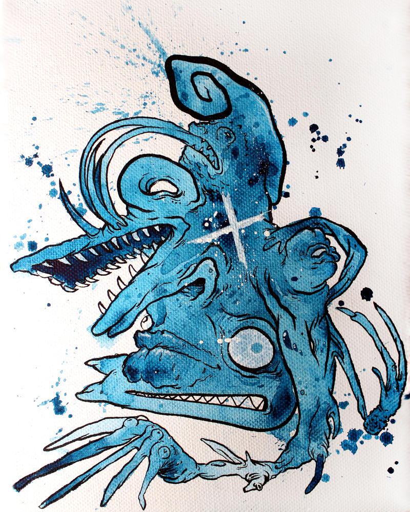 Blue Crocface by GLoeNn