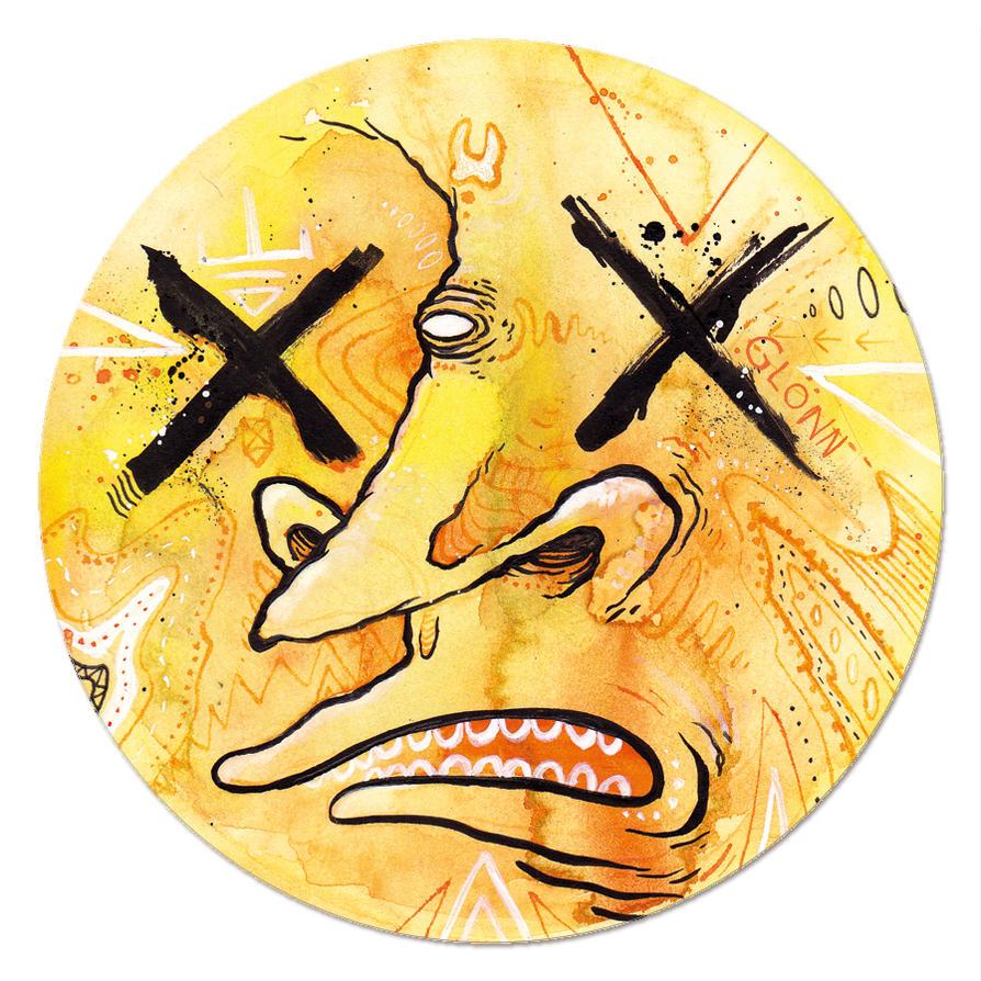 magnet of the monster faces -orange- by GLoeNn