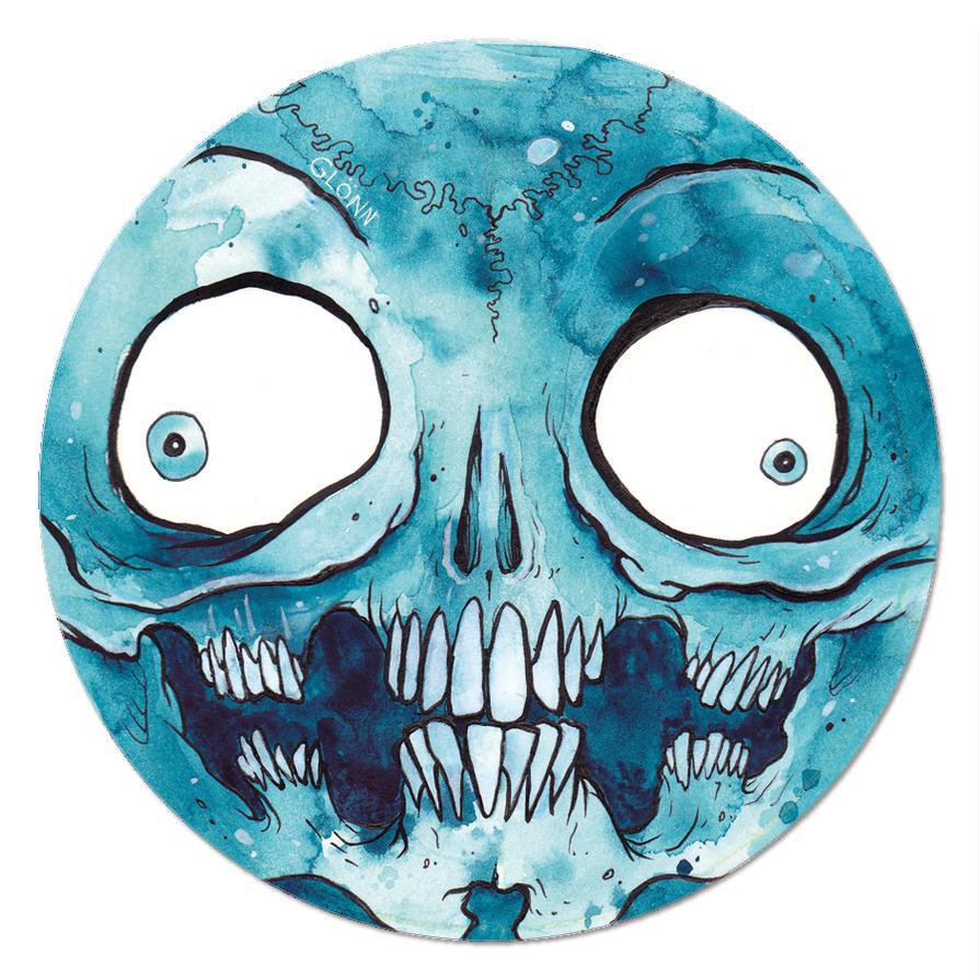 magnet of the monster faces -blue- by GLoeNn