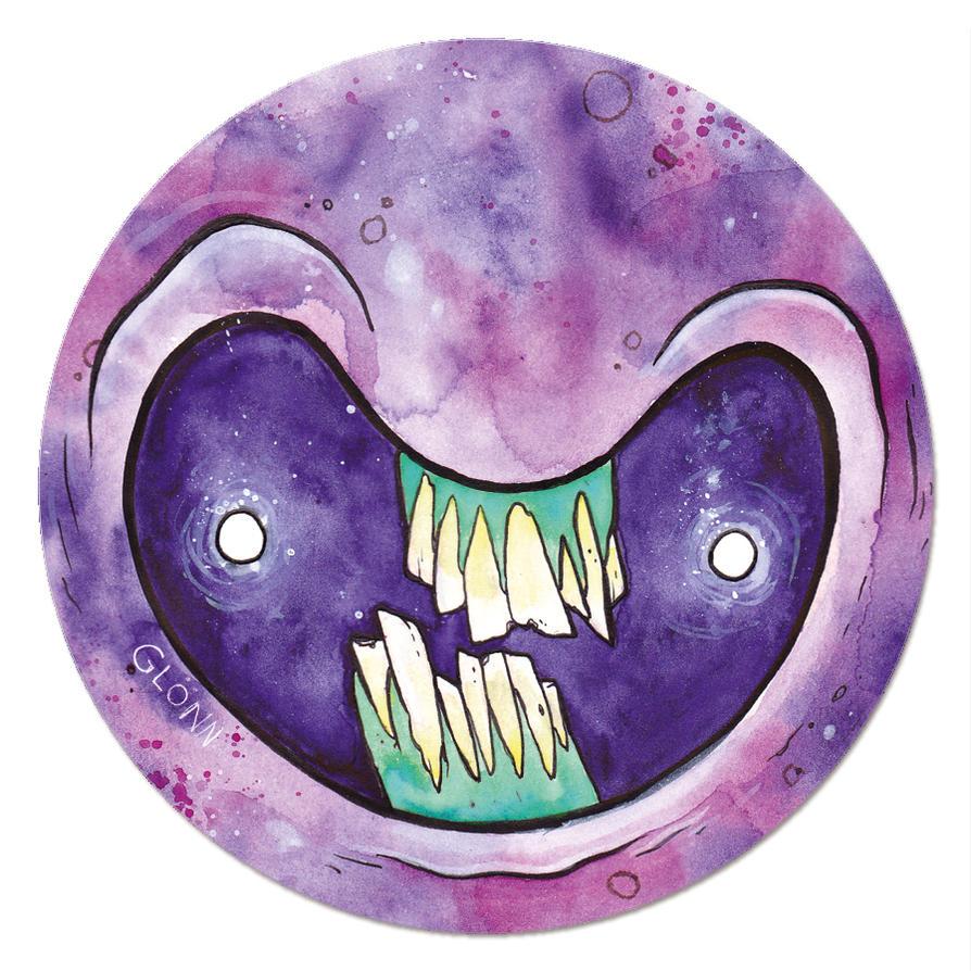 magnet of the monster faces -violett- by GLoeNn