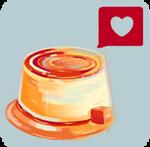 Caramel Heart Flan