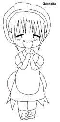 Chibitalia -Line Art- by Anime-In-My-Pants