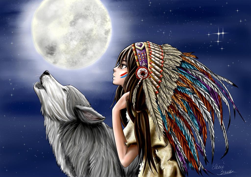 Native american girl by Sondim