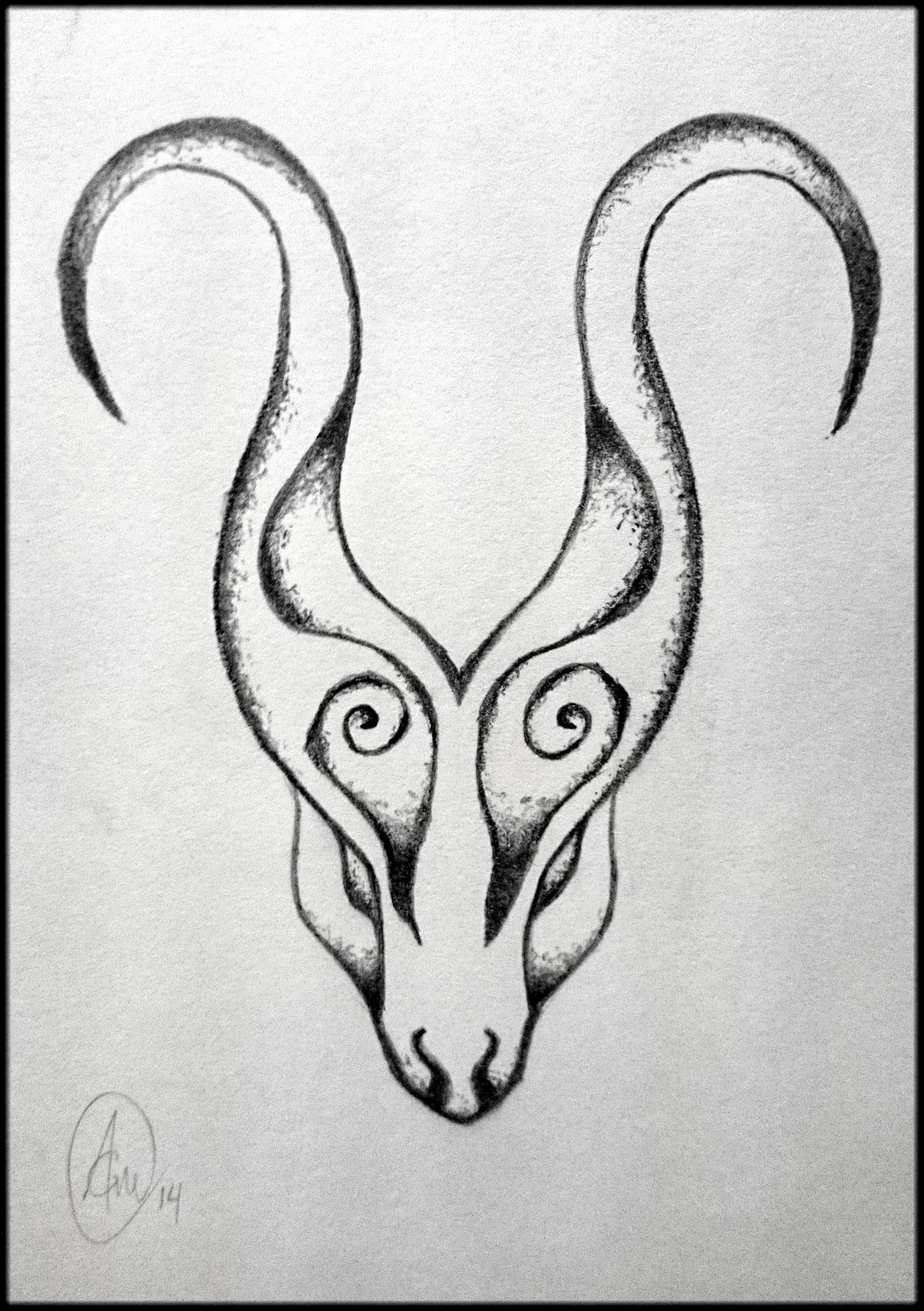 Aries Tattoo Drawing 1 by BlazeDev86 on DeviantArt