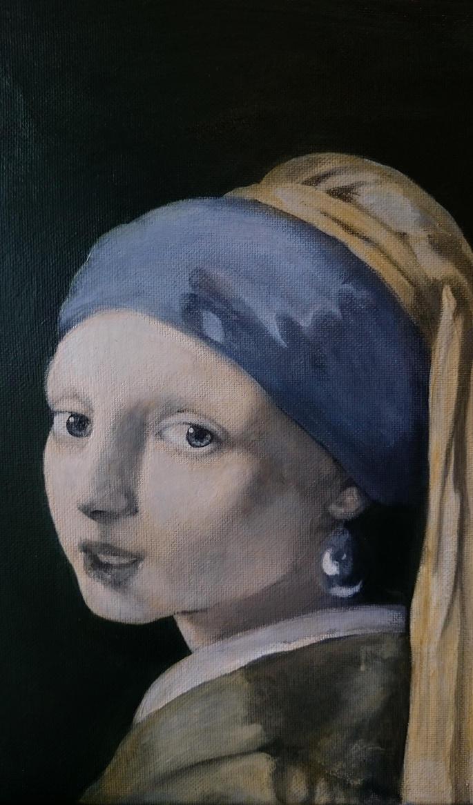 Girl with a pearl second glaze by BlazeDev86