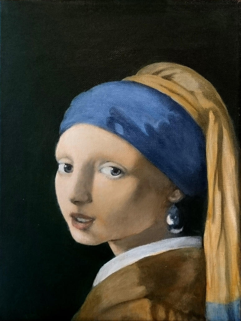 Girl with a pearl earring fifth color glaze by BlazeDev86