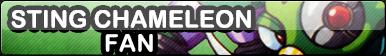 Sting Chameleon Fan Button [Mega Man X]