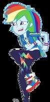 MLP EG Vector - Rainbow Dash