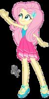 EQG Series - Fluttershy in resort wearing by ilaria122