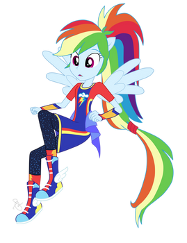 EQG Series - Surprised Rainbow Dash