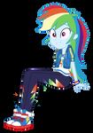 EQG Series - Sitting Rainbow Dash