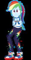 EQG Series - Scared Rainbow Dash
