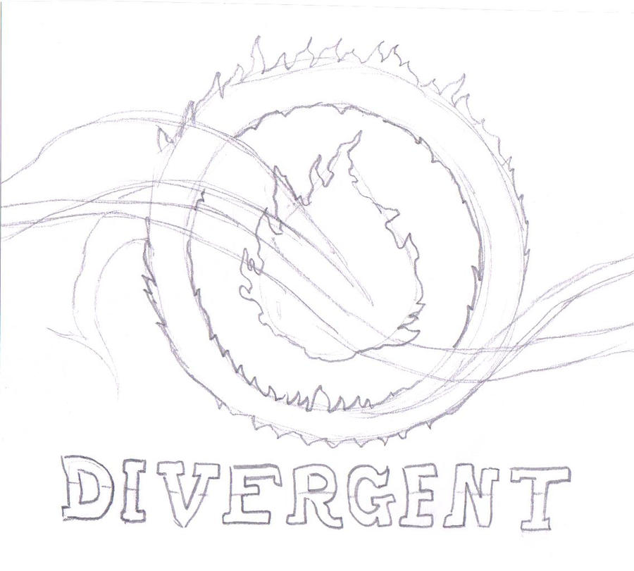 Book Cover Page Drawing ~ Divergent book cover by warriorsfan on deviantart