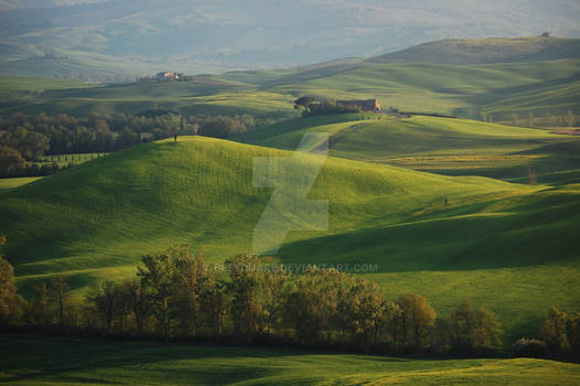Evening Falls on Val d'Orcia