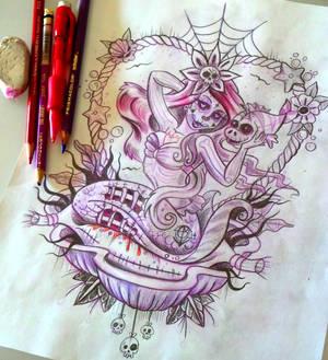 WIP Dead Ariel sketch