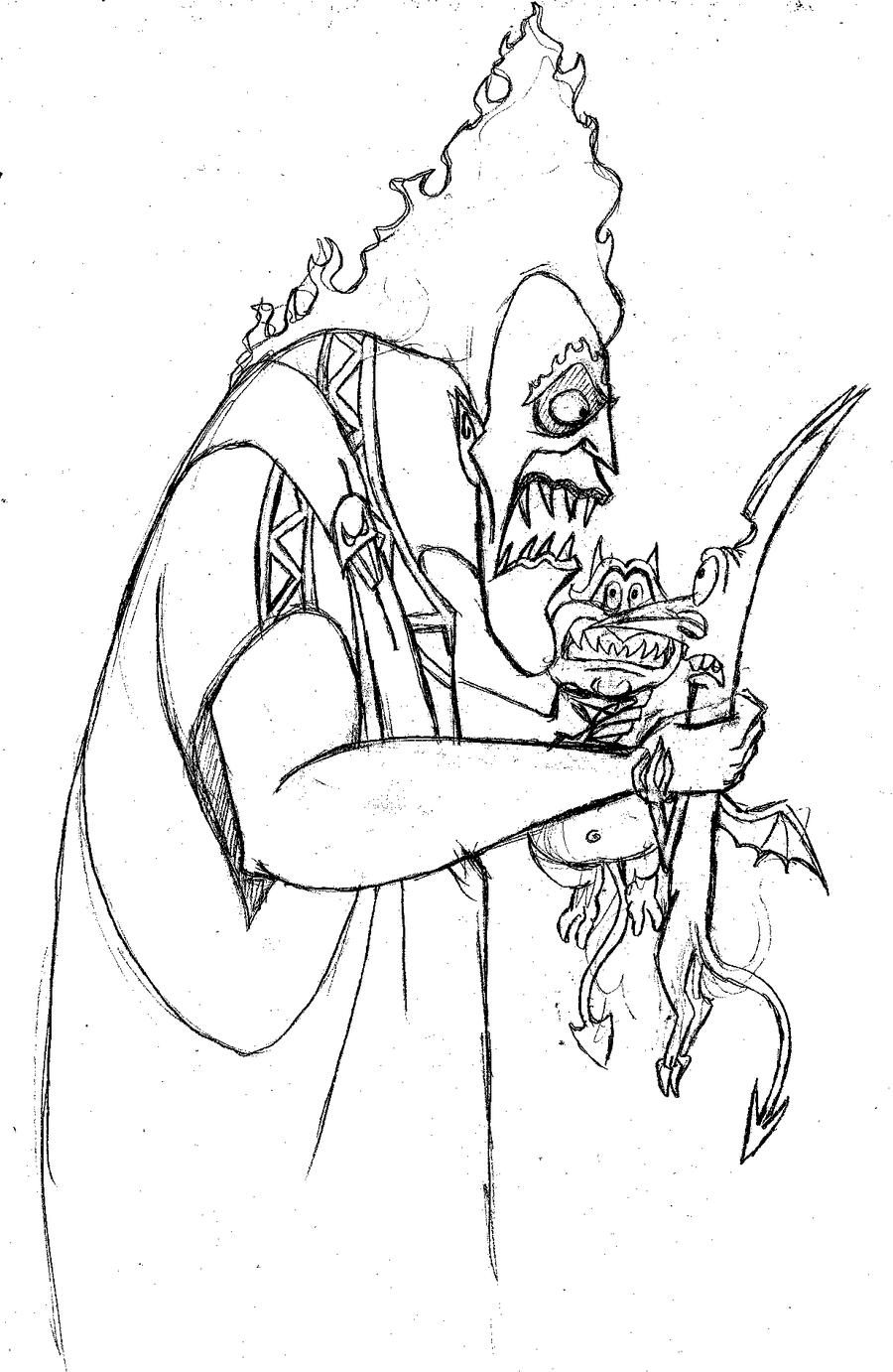 Disney hades coloring page -  Hatedlove6 Hades Pain And Panic By Hatedlove6