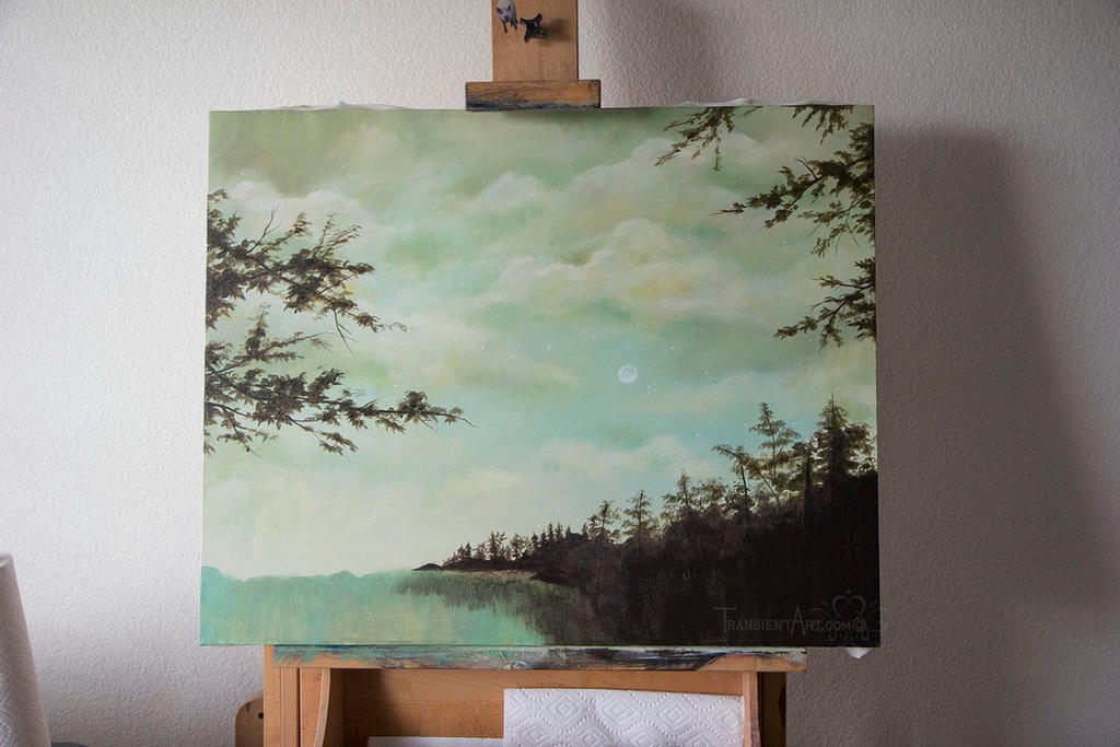 Lake Forest Painting WIP by TransientArt