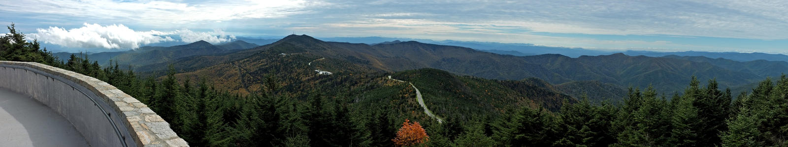 Mt. Mitchell Summit Panorama 2