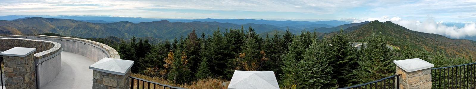 Mt. Mitchell Summit Panorama 5