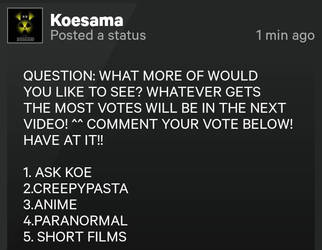 IT'S TIME TO VOTE!! C: by Koesama