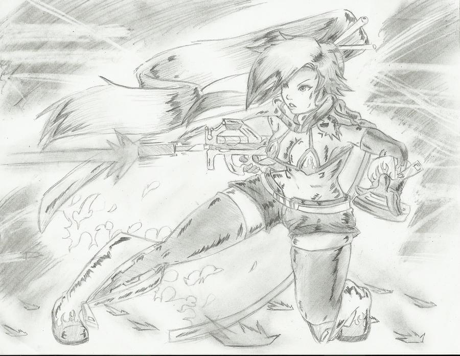 Yoko .Bullet Vagrant. by DCLzexon