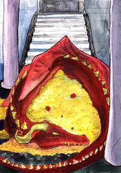 Smaug the Golden - Watercolour by nekoyo