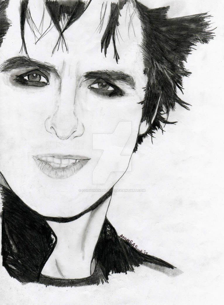 Billie Joe Armstrong Pencil and Charcoal Portrait