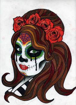 Sugar Skull Self Portrait