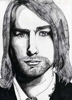 Kurt Cobain Marker Portriat