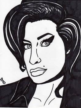Amy Winehouse All Sharpie Portrait