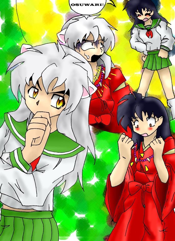 Inuyasha And KagomeColored By Animecraz