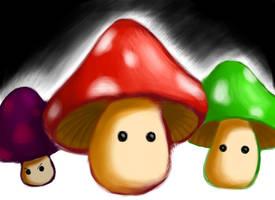 Mushrooms by BThomas64