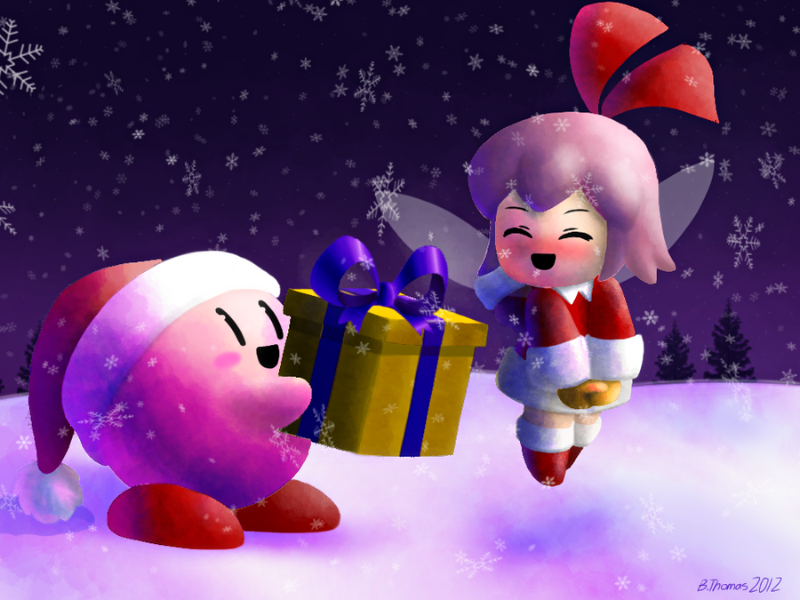 Kirby's Christmas Gift by BThomas64 on DeviantArt
