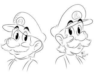 Stylized Mario Bros. by BThomas64