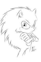 Stylized Sonic The Hedgehog by BThomas64
