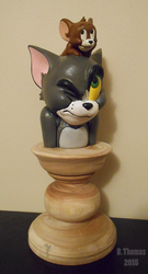 Tom and Jerry Sculpture by BThomas64