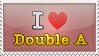 I Love Double A Stamp by NileyJoyrus14