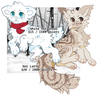 Christmas Adopts - PRICE LOWERED CLOSED by GoldenDragonART
