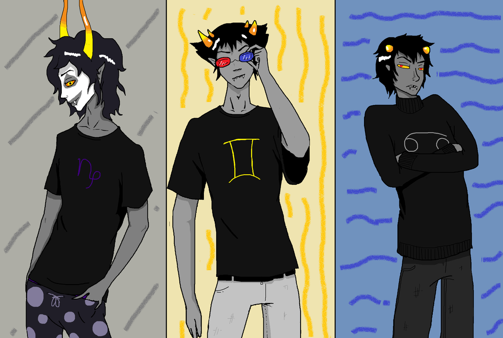 Homestuck - Gamzee Sollux and Karkat by ScarygermangirlKarkat And Gamzee And Sollux