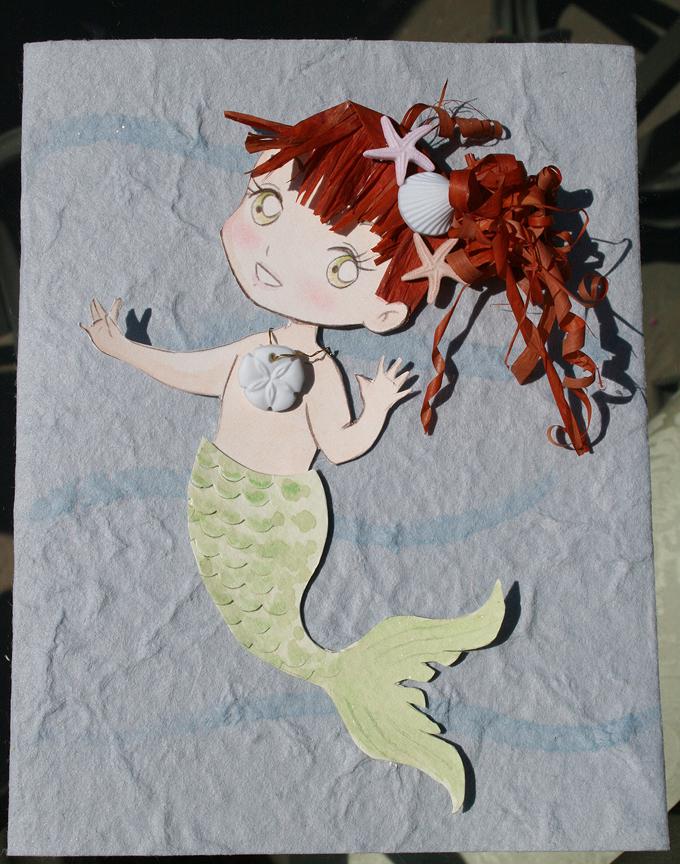 Paper Mermaid by Tavicat