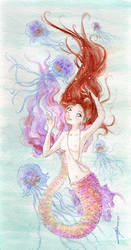 Dancing with Jellyfish by Tavicat